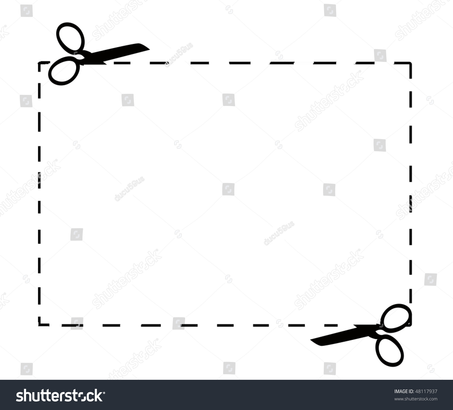 clip art dotted line with scissors - photo #28
