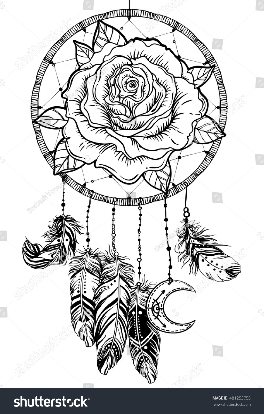 detailed dream catcher coloring pages - photo#12
