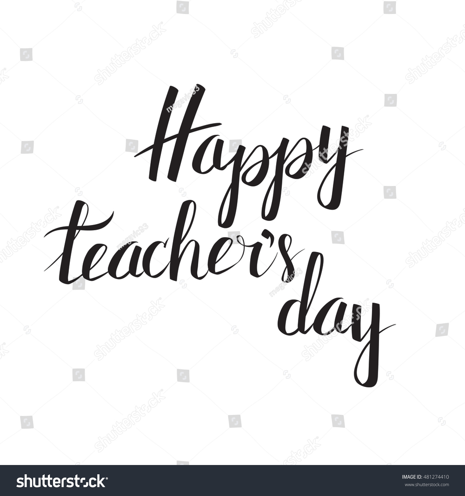 Vector inscription happy teachers day exclusive stock
