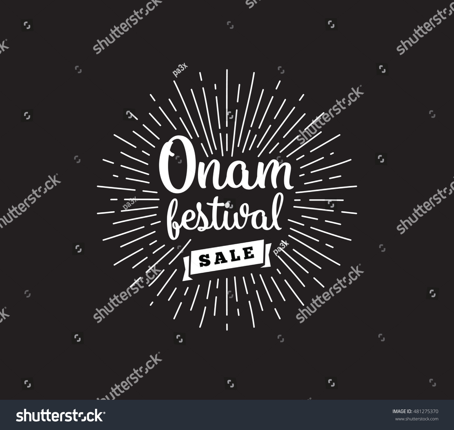 happy onam background traditional festival in kerala south india vector illustration with typography