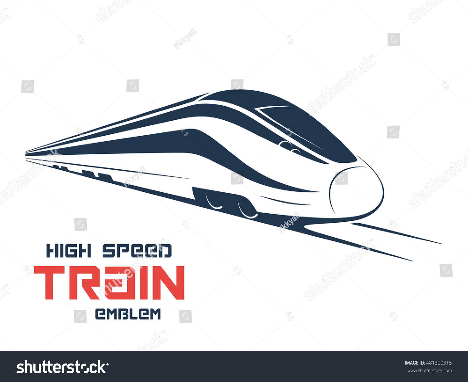 Modern High Speed Train Emblem Icon Stock Vector 481300315 ...