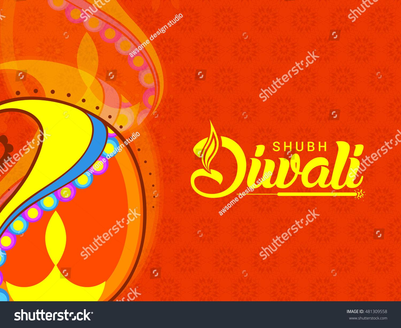 Beautiful greeting card decorated line art stock vector royalty a beautiful greeting card with decorated line art diya of indian festival celebration backgroundhappy m4hsunfo