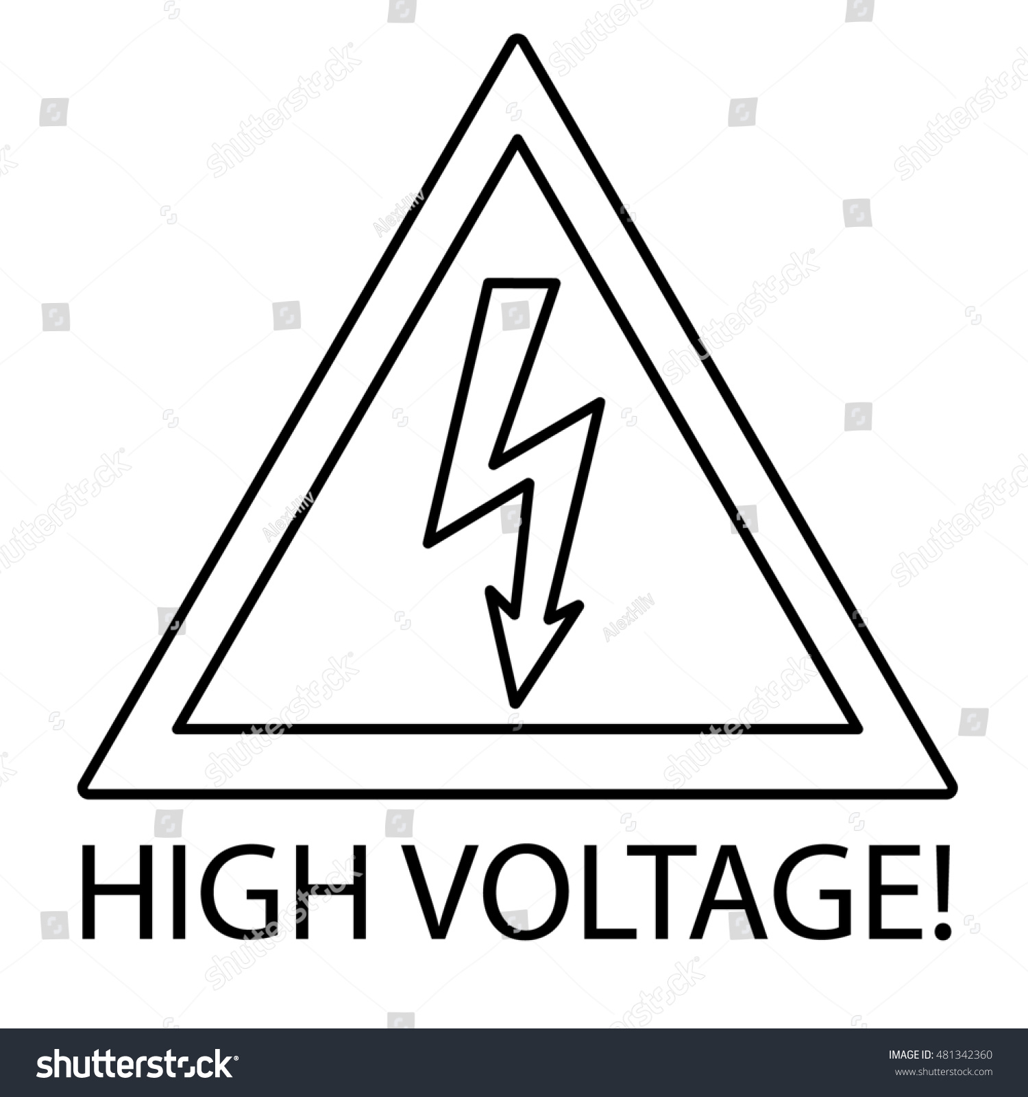 High voltage sign danger symbol flat stock illustration 481342360 high voltage sign danger symbol flat stock illustration black and white buycottarizona