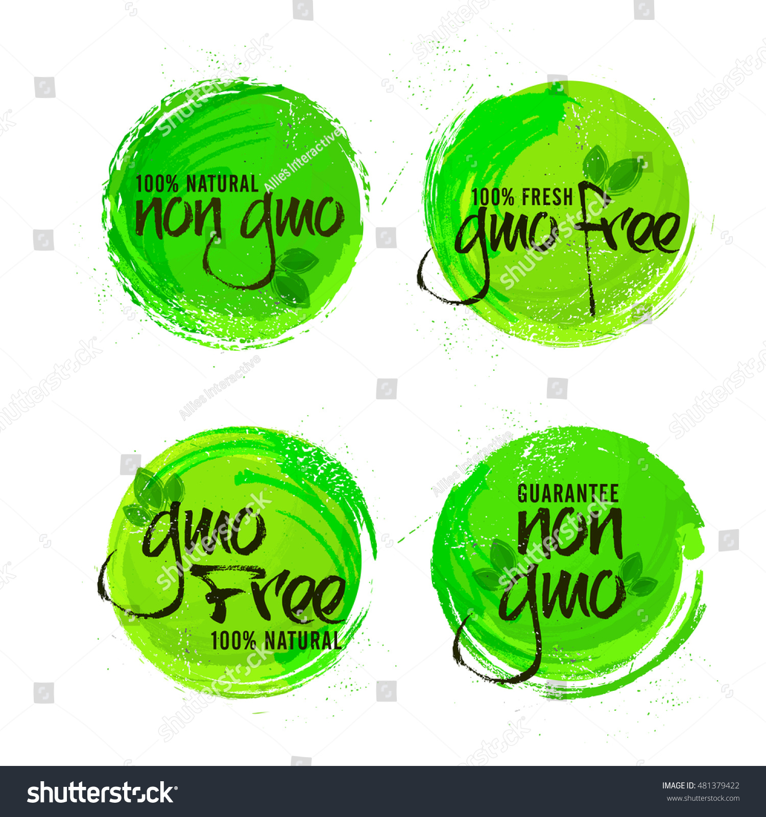 Non gmo gmo free stickers set stock vector 481379422 shutterstock non gmo or gmo free stickers set natural organic products labels green tags design buycottarizona Images