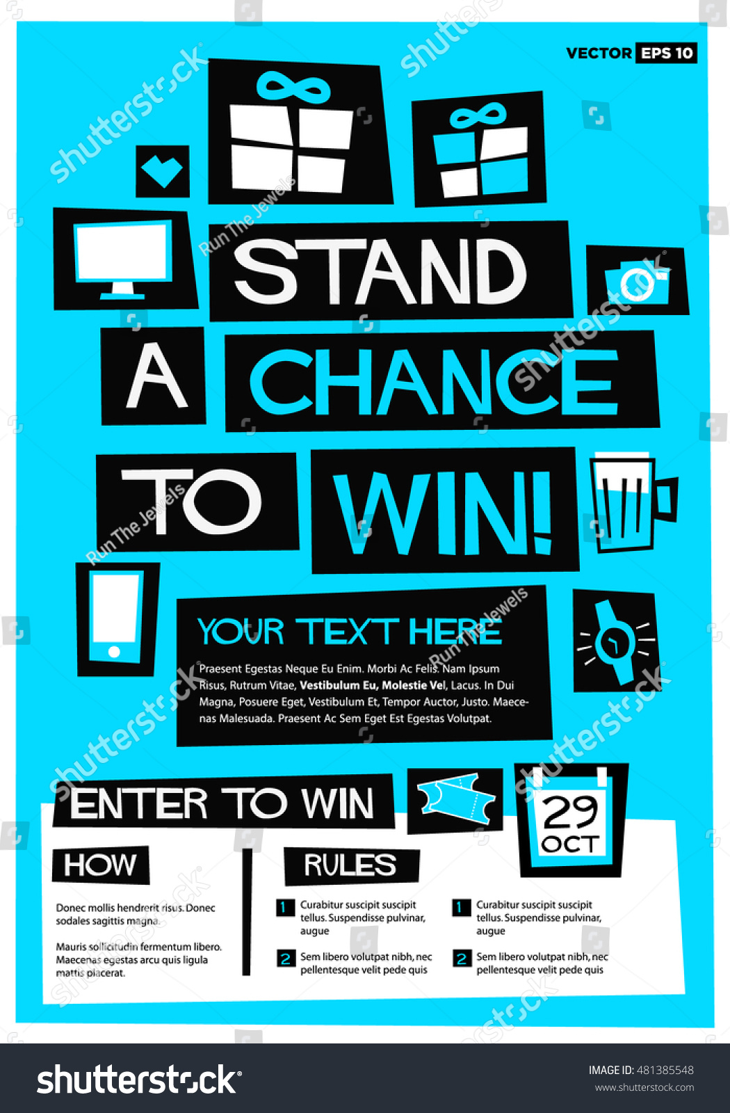 Poster design rules -  Flat Style Vector Illustration Contest Poster Design With