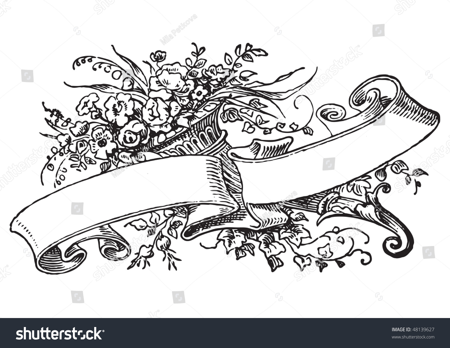 antique frame engraving scalable and editable vector illustration