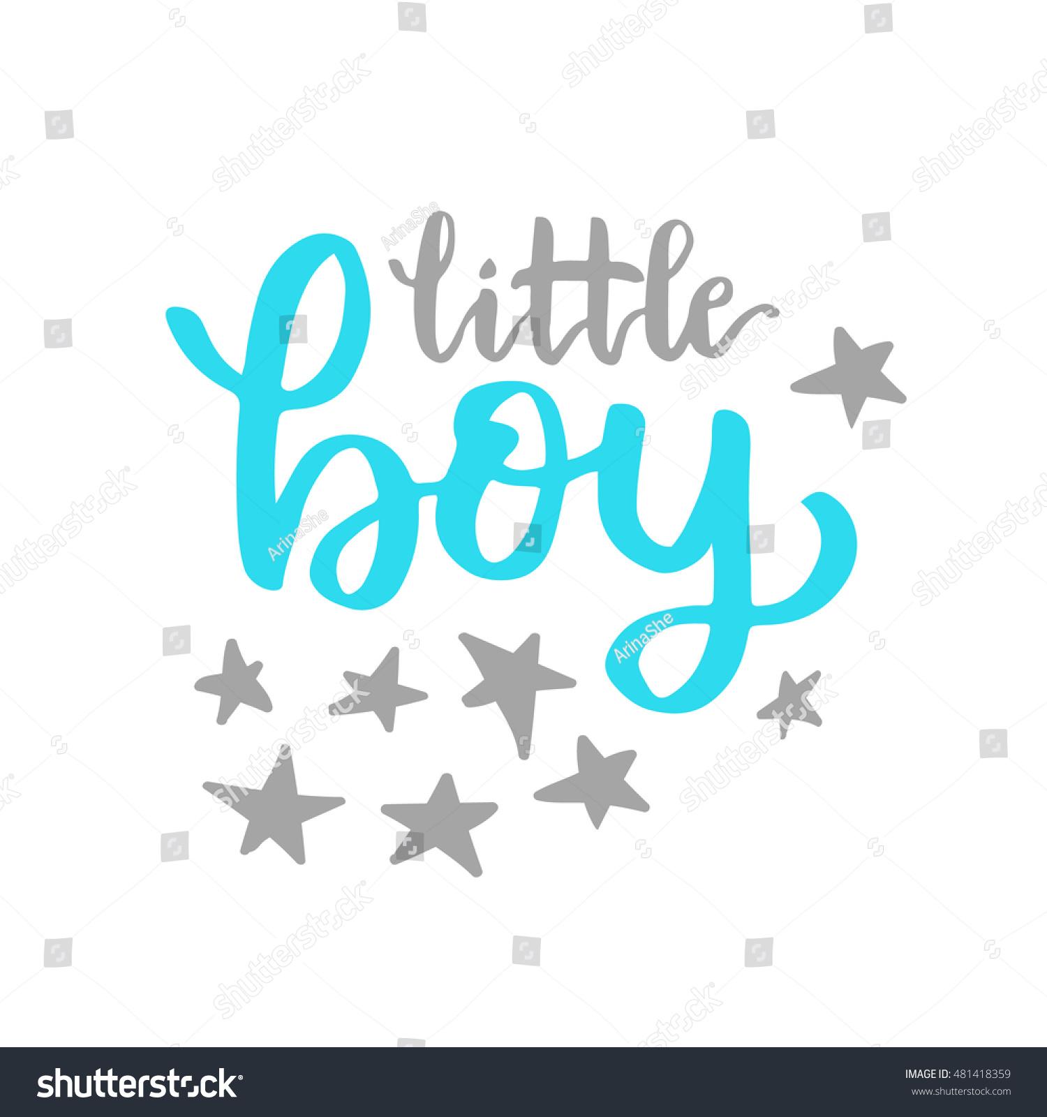 Vector Cute Baby Shower Invitation Lettering Stock Vector