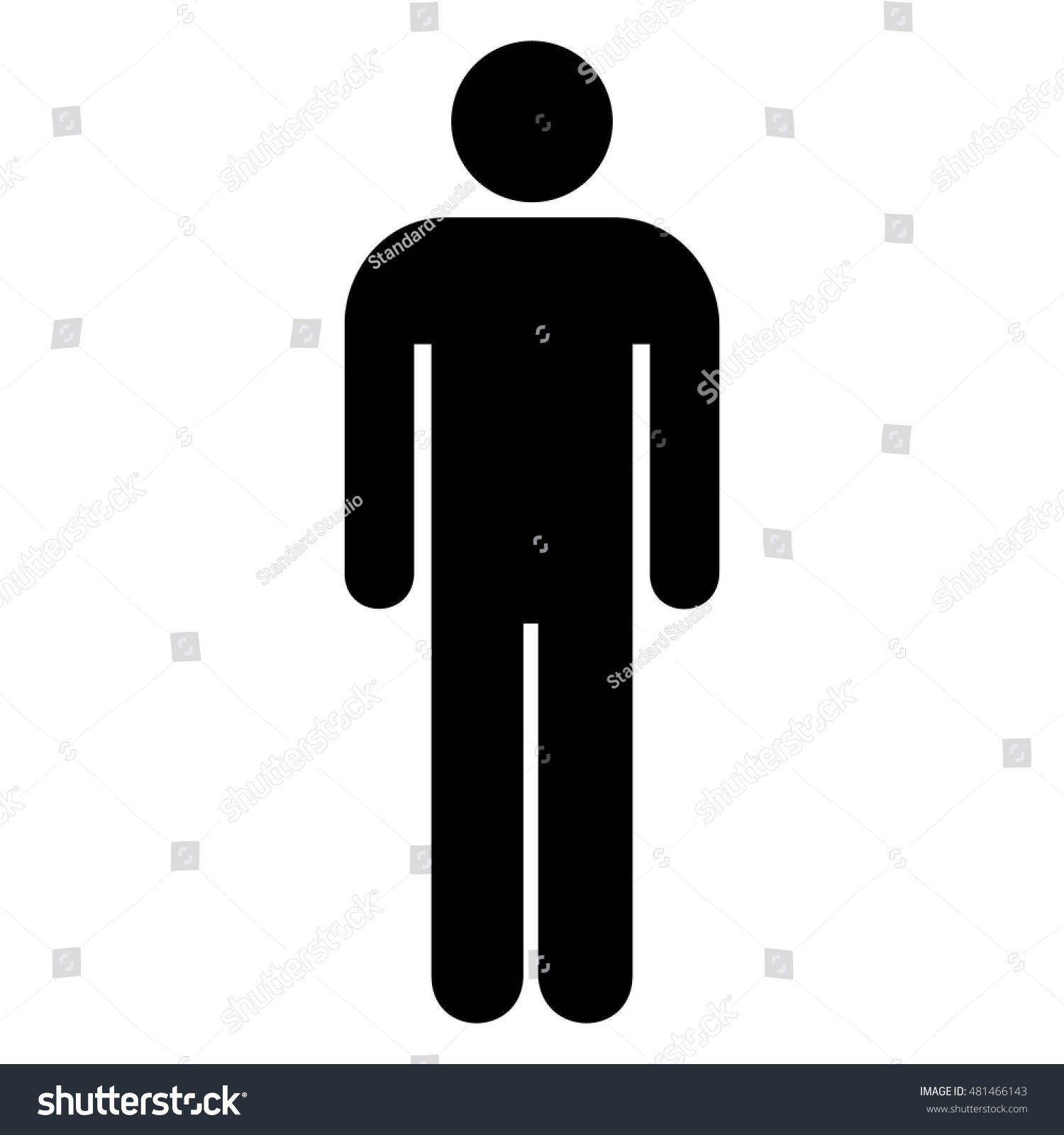 Restroom Sign Man Toilet Sign Man Stock Vector 481466143