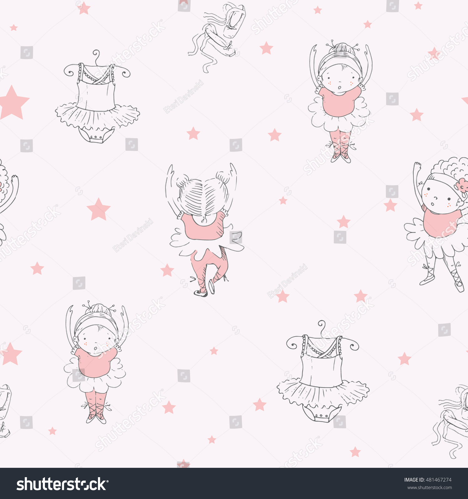 Seamless pattern of ballet dancers royalty free stock photography - Ballet Dancer Seamless Pattern With Ballerinas Can Be Used For Kid S Or Baby S Shirt