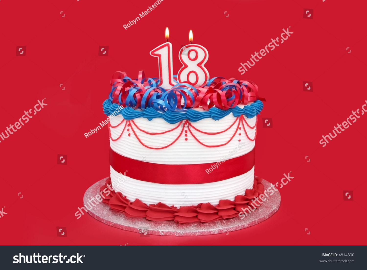 18th Cake Numeral Candles On Vibrant Stock Photo Edit Now