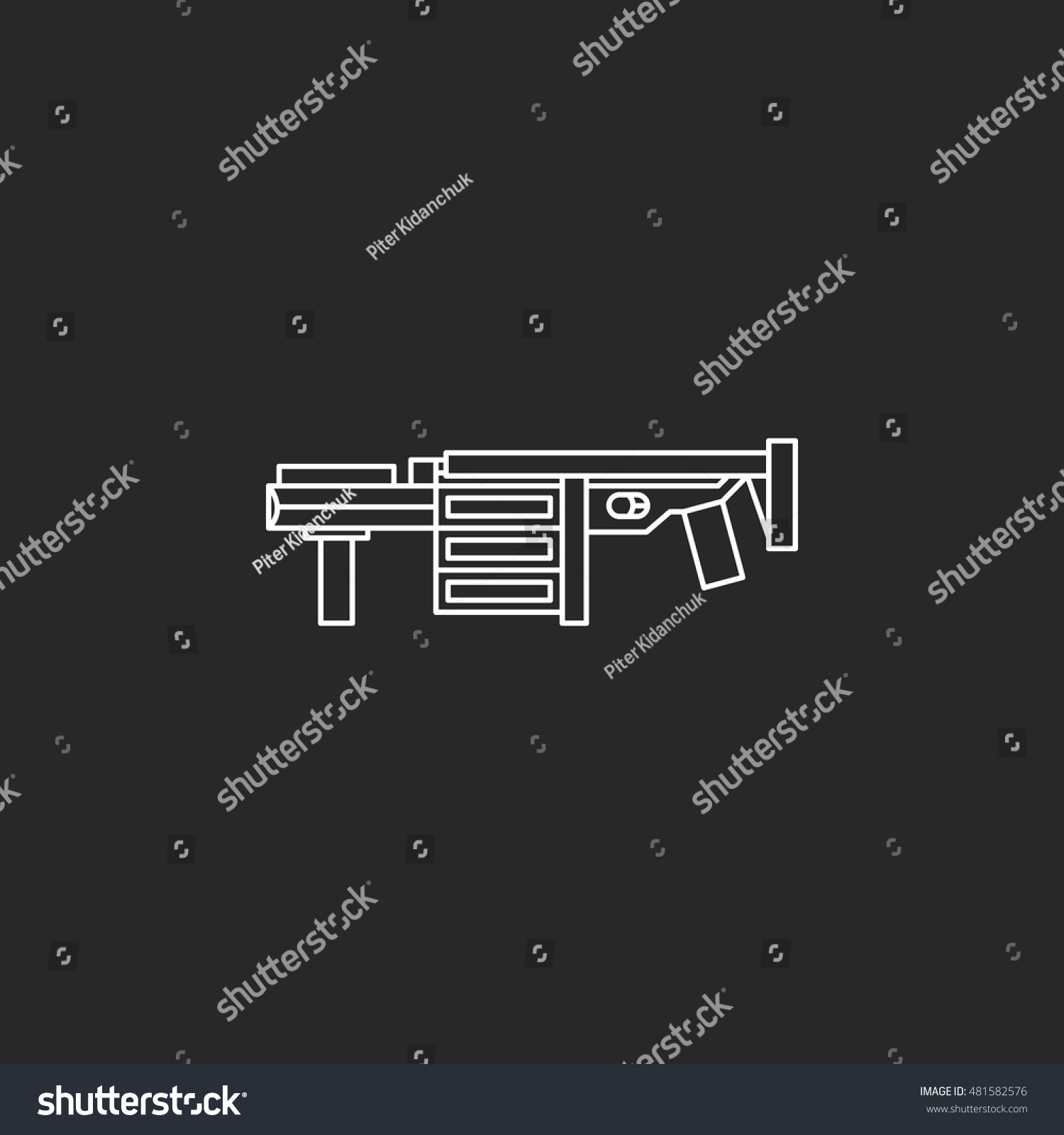 Grenade launcher gun symbol sign one stock vector 481582576 grenade launcher gun symbol sign one line icon on background biocorpaavc Images