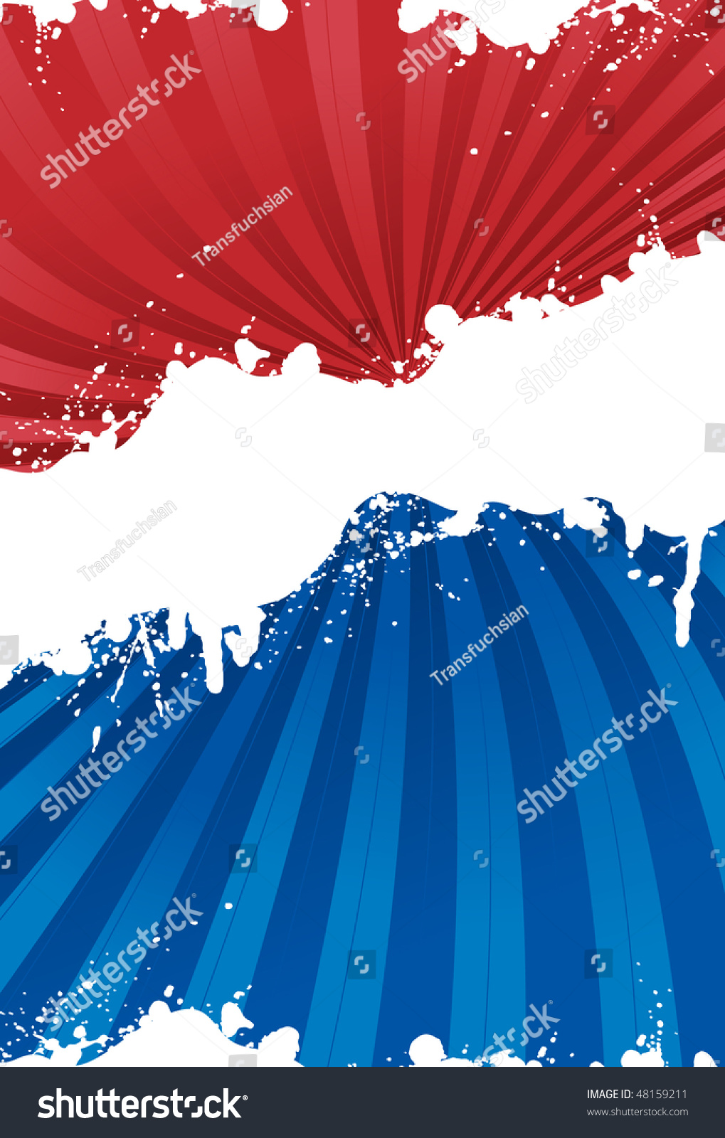 Red, White And Blue Patriotic Background With Grunge Line ...