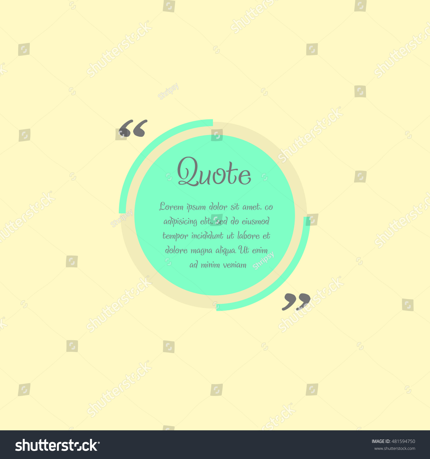 Quote Blank Template Design Elements Circle Stock Photo (Photo ...