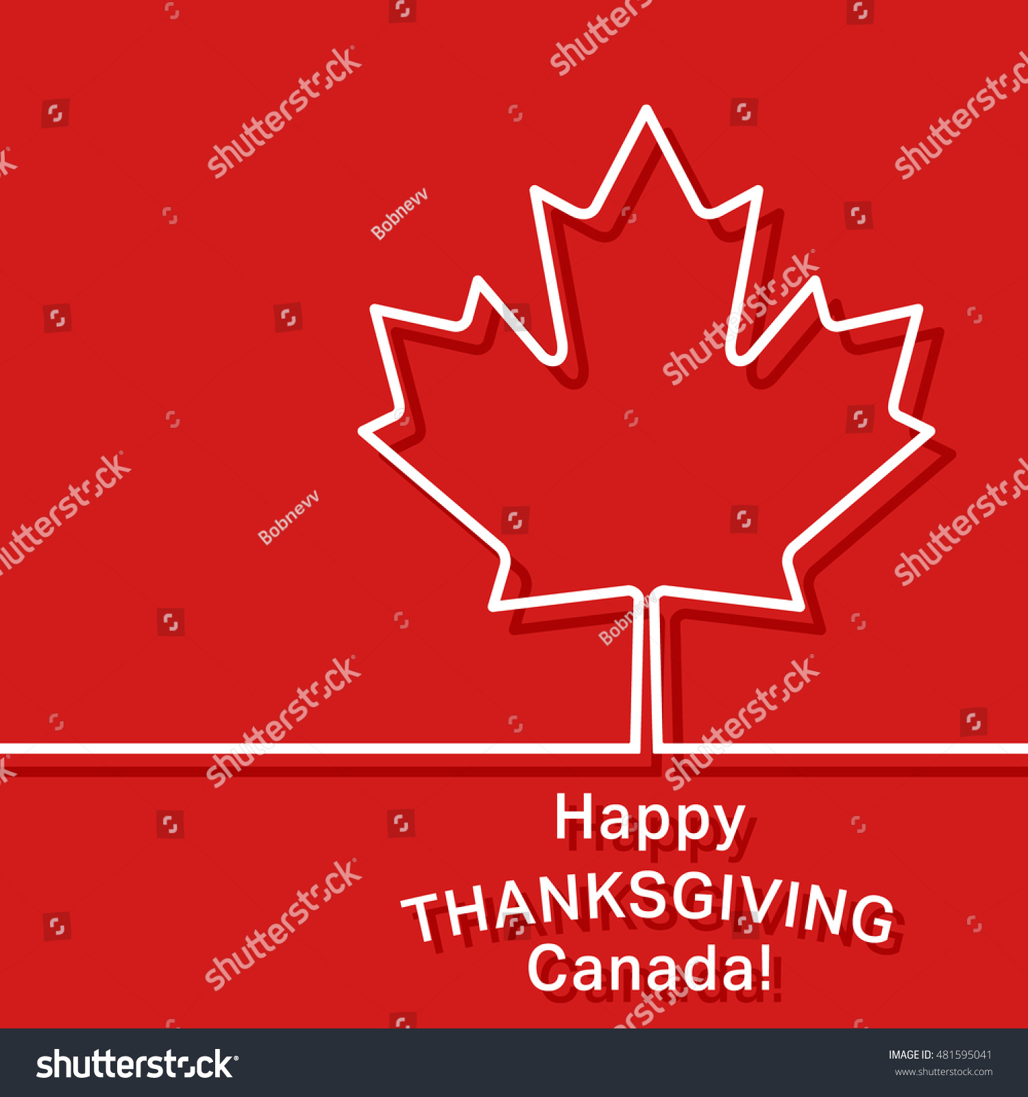 Canada Thanksgiving Card Canadian Maple Leaf Stock Vector Royalty