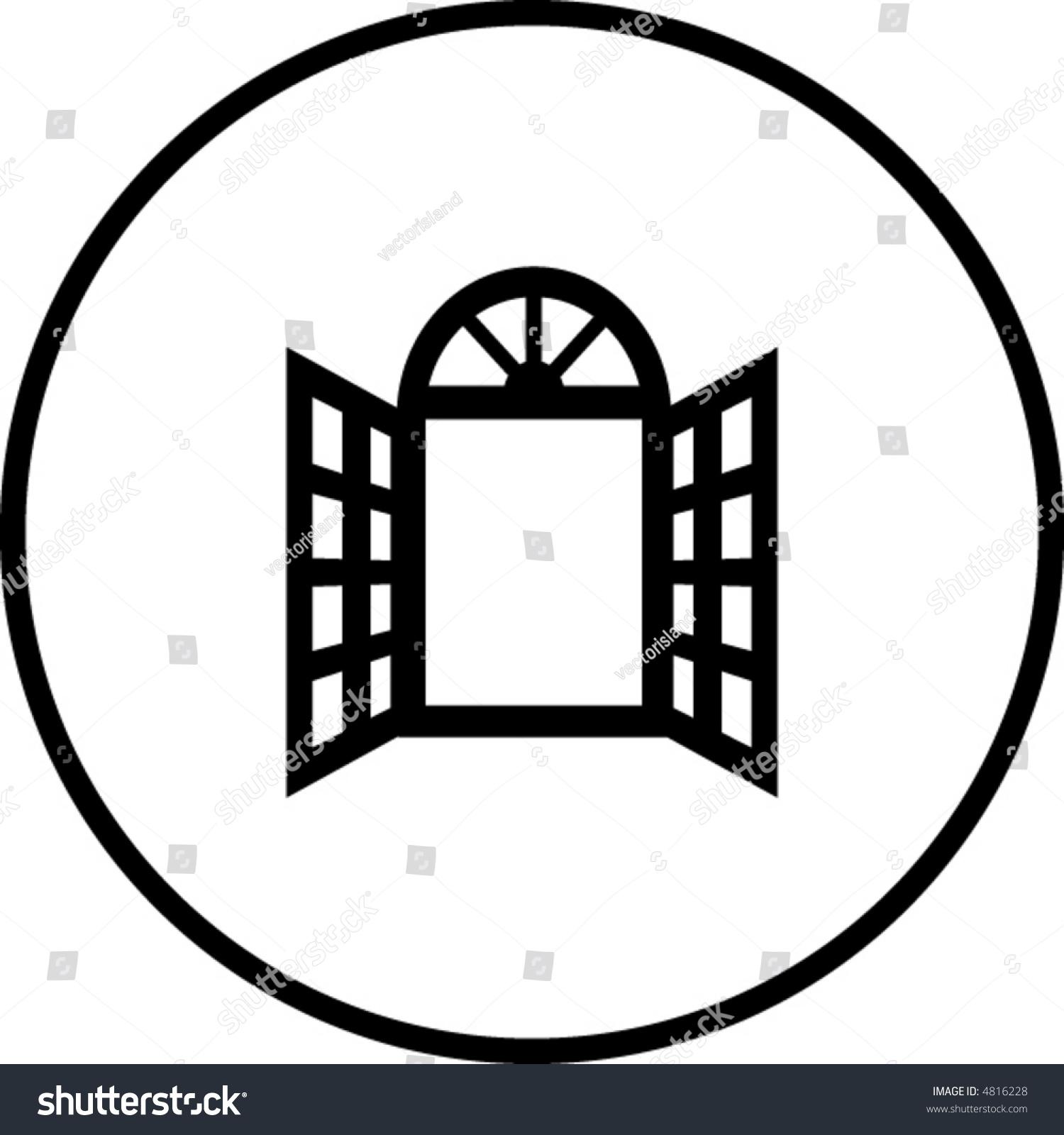 Open Window Symbol Stock Vector Royalty Free 4816228 Shutterstock