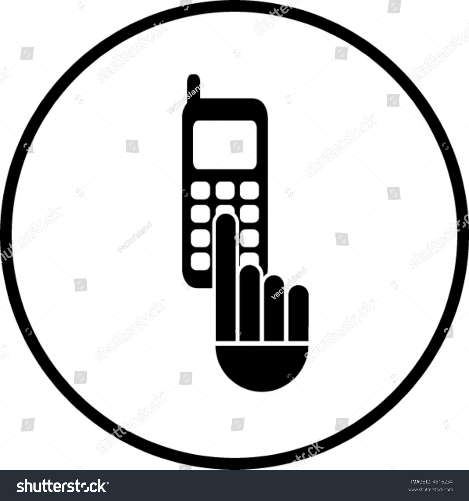 Cell Phone Dialing Symbol Stock Vector 4816234 - Shutterstock