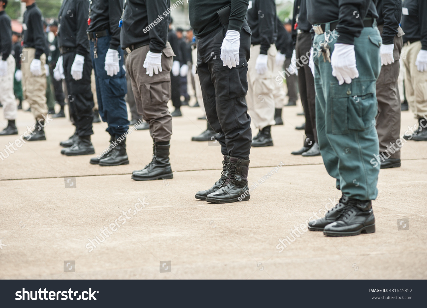 Police Tactical Training Police Annual Review Stock Photo