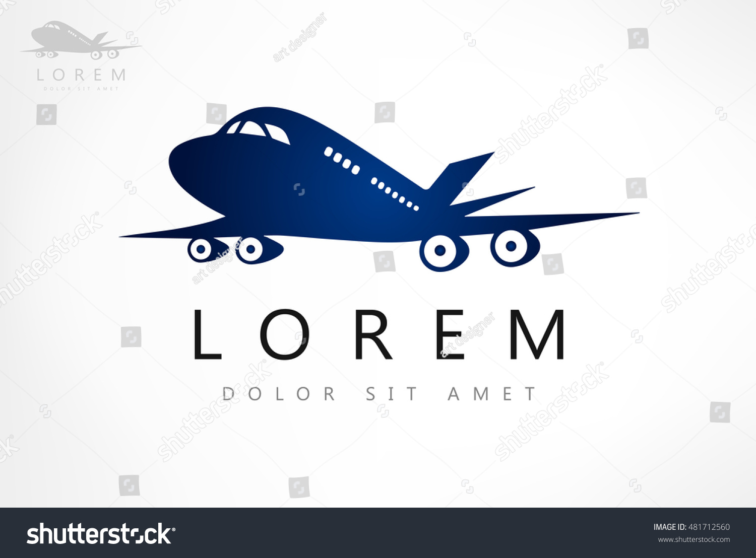 Aircraft Vector Design Business Card Template Stock Vector 481712560 ...