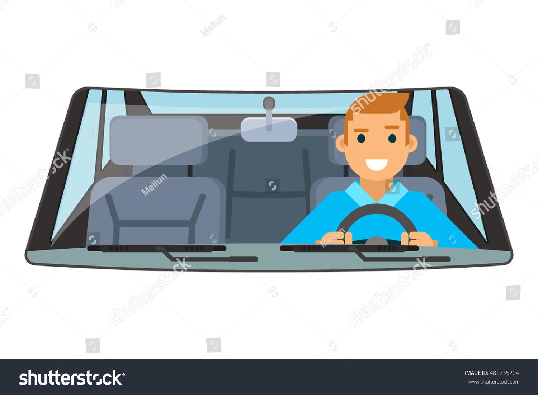 vehicle interior driver car wheel ride stock vector 481735204 shutterstock. Black Bedroom Furniture Sets. Home Design Ideas