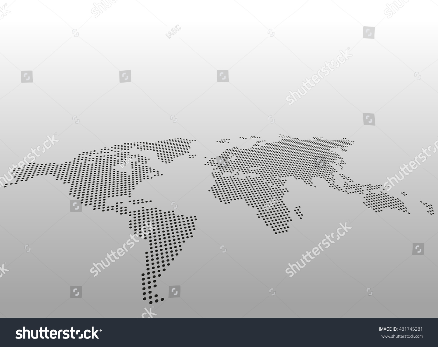 World dotted map vector background asymmetric vectores en stock world dotted map vector background asymmetric perspective view gumiabroncs Choice Image