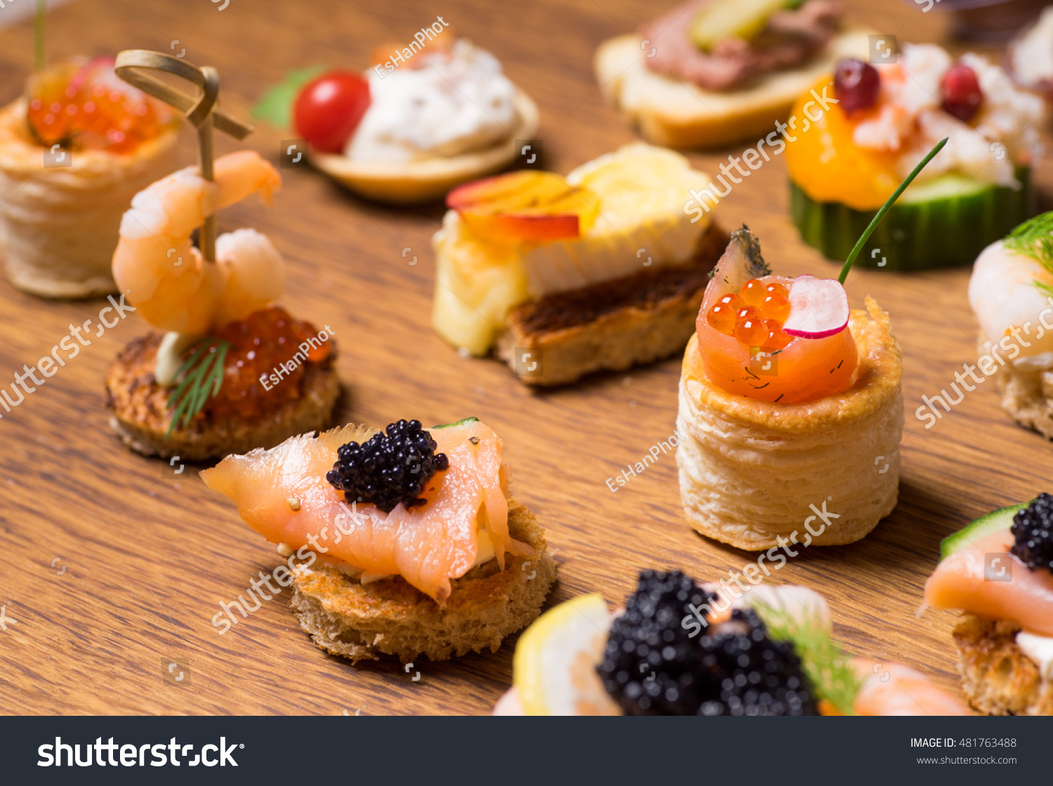 Exquisite selection luxury canapes appetizer ready stock for Canape selection