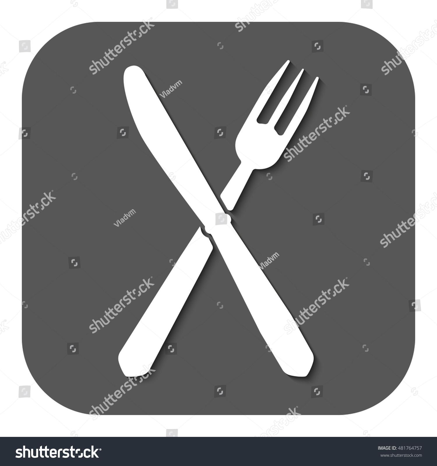 Knife Fork Icon Knife Fork Symbol Stock Illustration 481764757