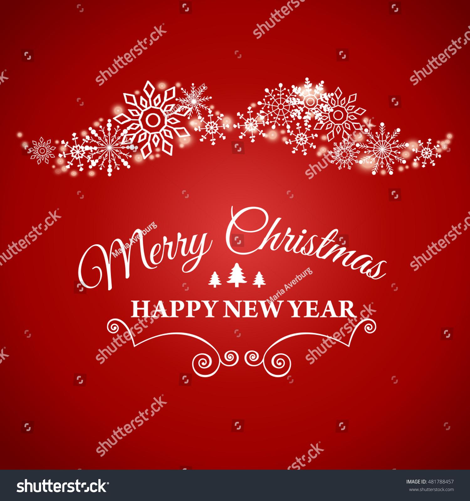 Happy New Year Merry Christmas Ecard Stock Vector (Royalty Free ...