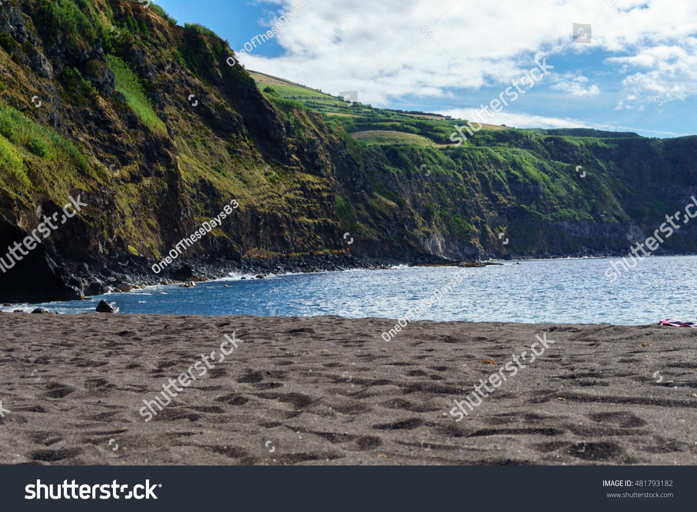Beach Mosteiros On Sao Miguel Island Stock Photo Edit Now