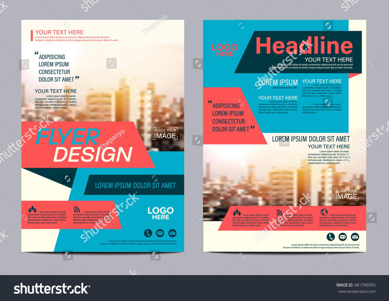 modern flat brochure layout design template のベクター画像素材