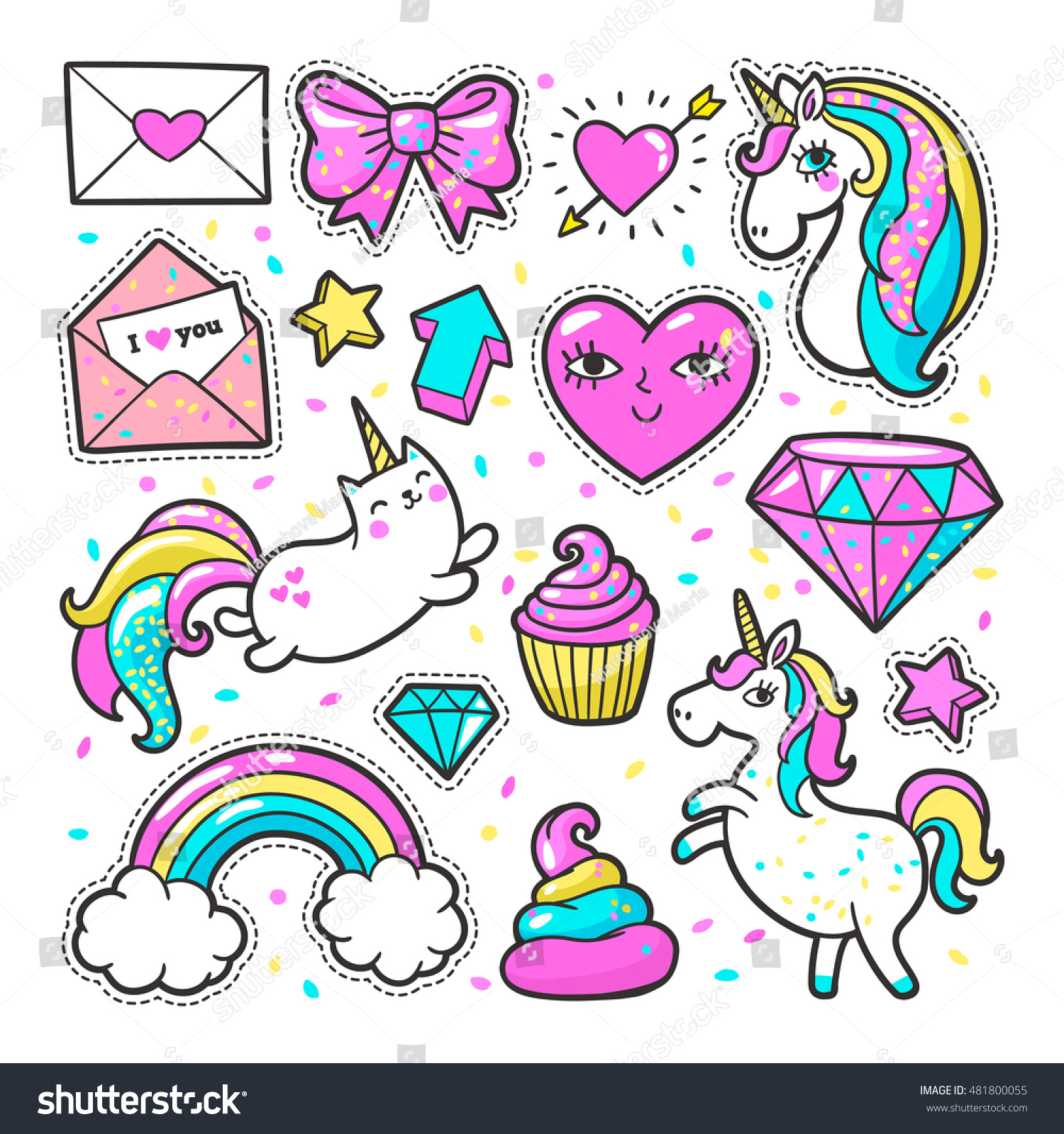 The gallery for --> Unicorn Pattern Background