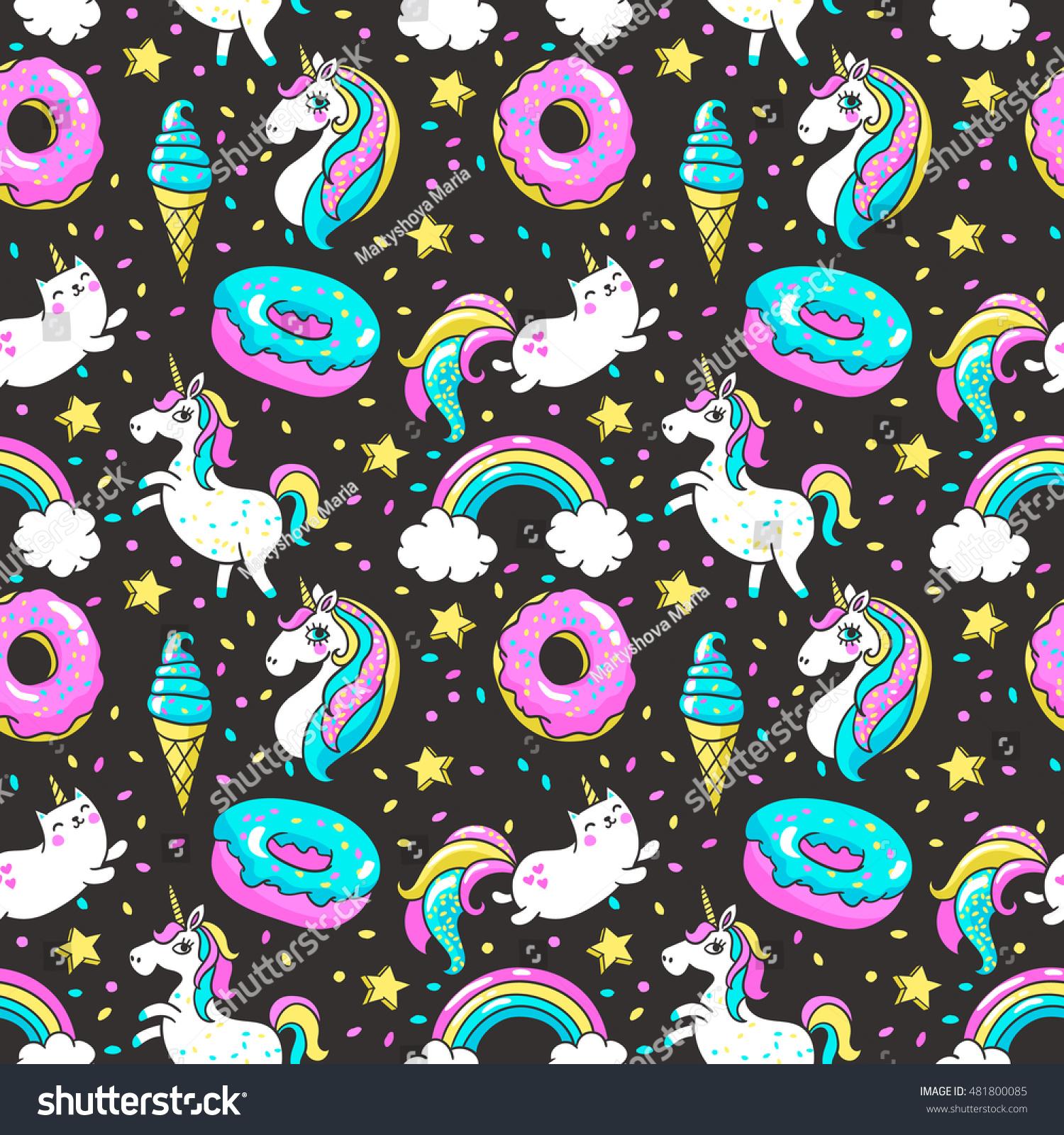 rainbow unicorns wallpaper