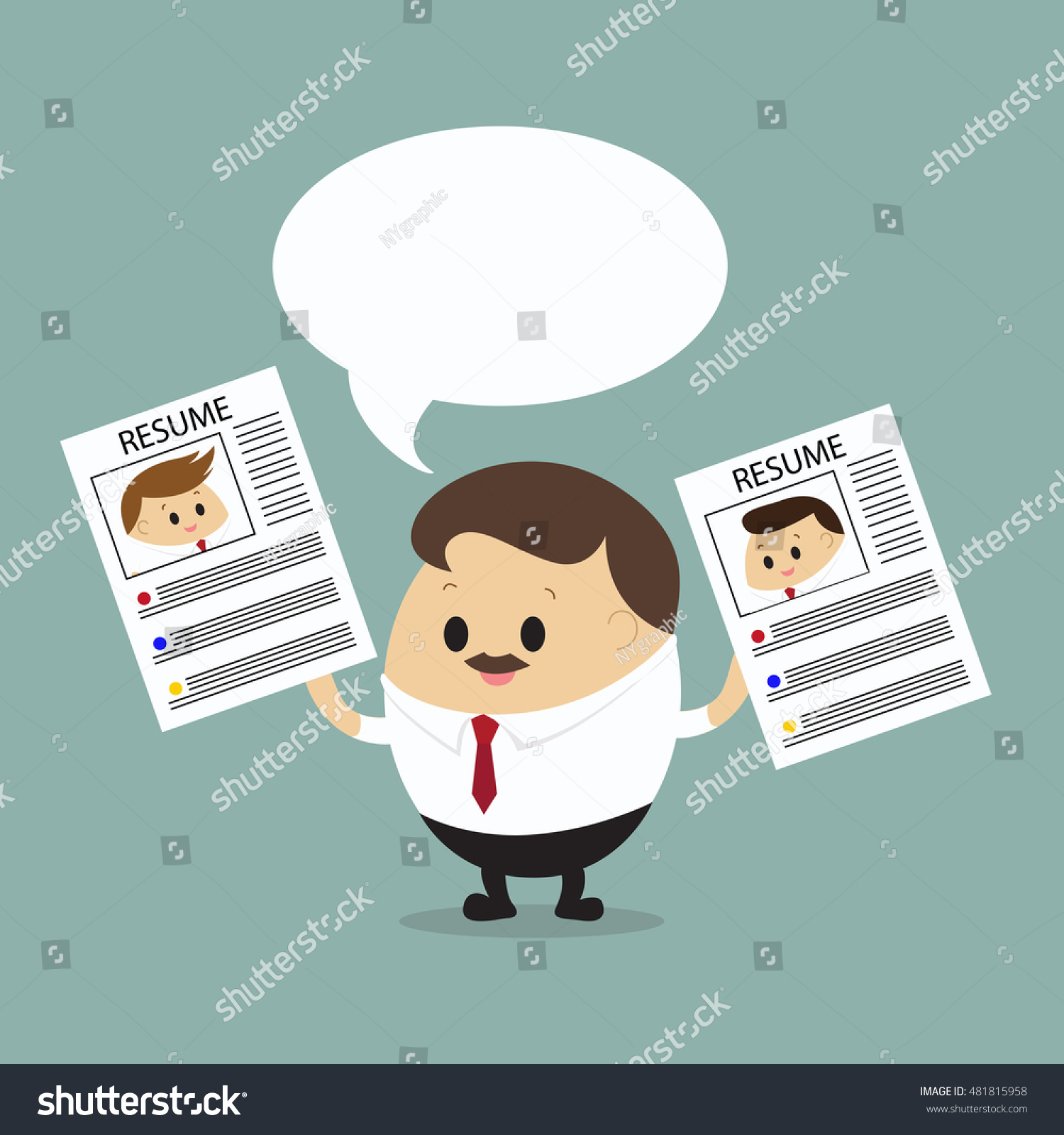 vector boss resume choosing best resume stock vector 481815958 vector of boss resume for choosing best resume business concept hiring employment best