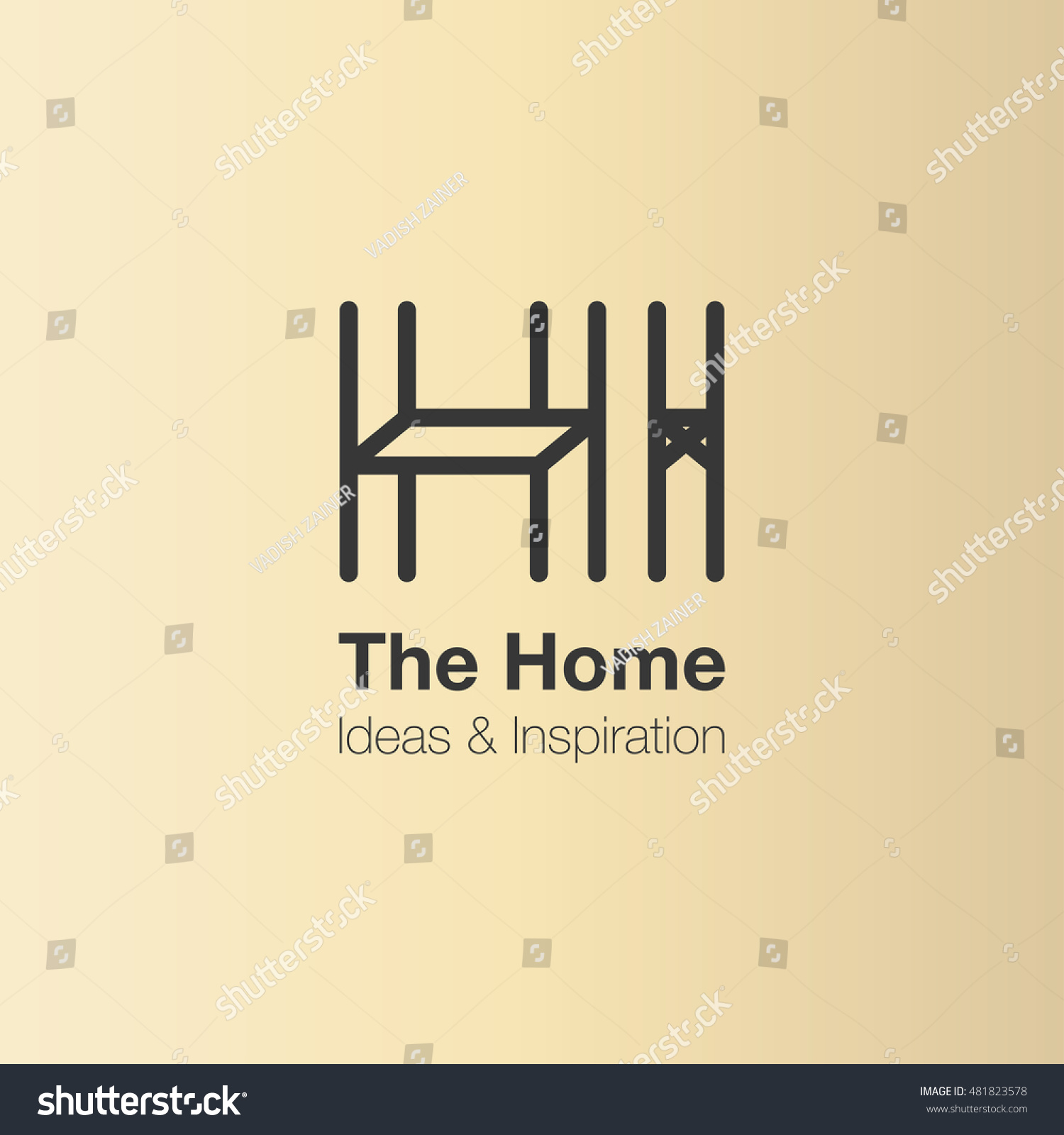 Home Interior Logo Design Vector Logo Stock Vector Royalty Free