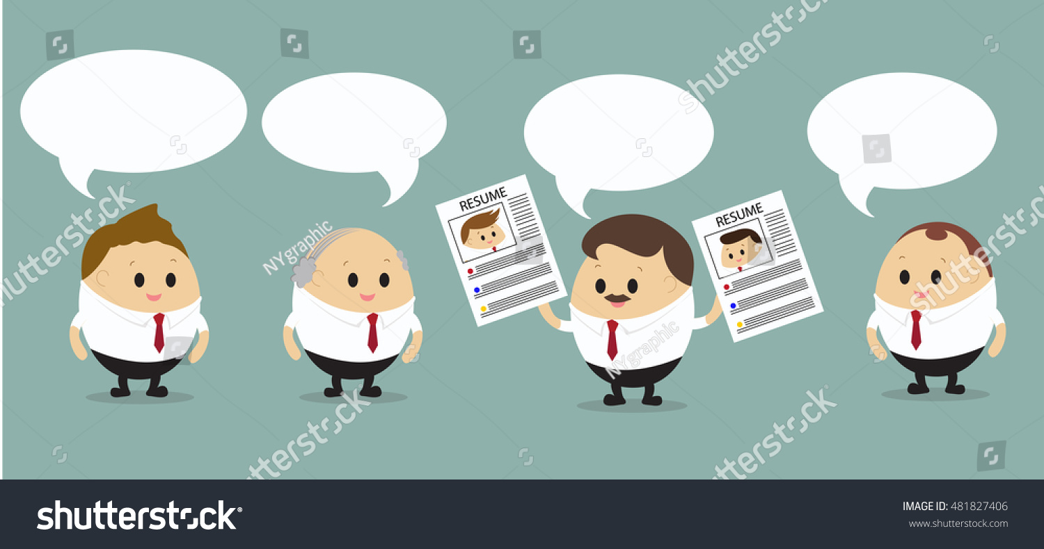 vector group businessman discussing about hiring stock vector vector of group of businessman discussing about hiring employment to best candidate business concept