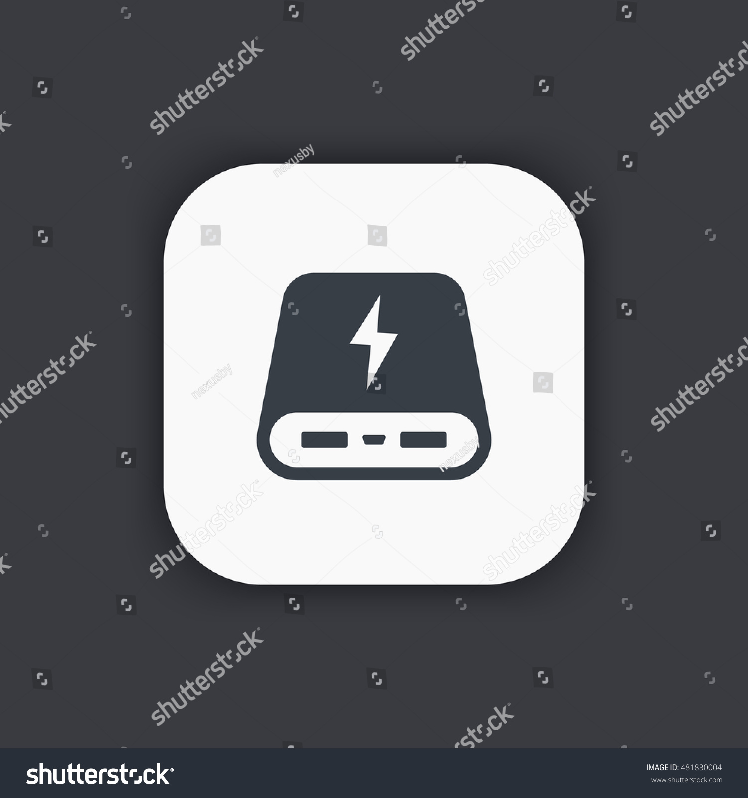 Power Bank Icon Portable Charging Device Stock Vector 481830004 ...