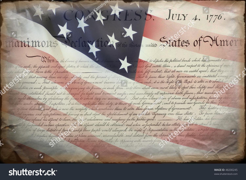 United States Declaration Independence Stock Photo (Edit Now