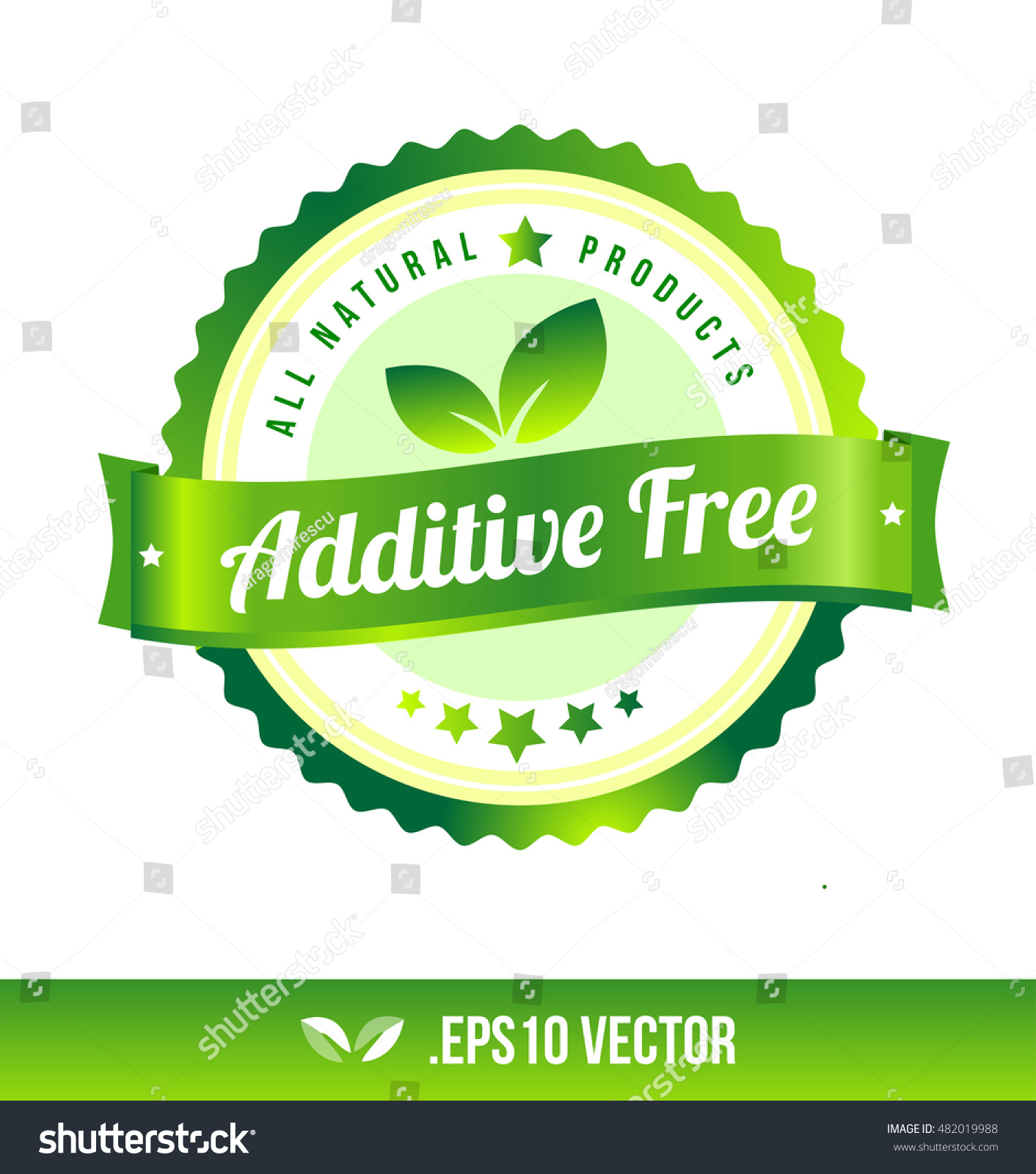 additive free badge label seal stamp stock vector royalty free