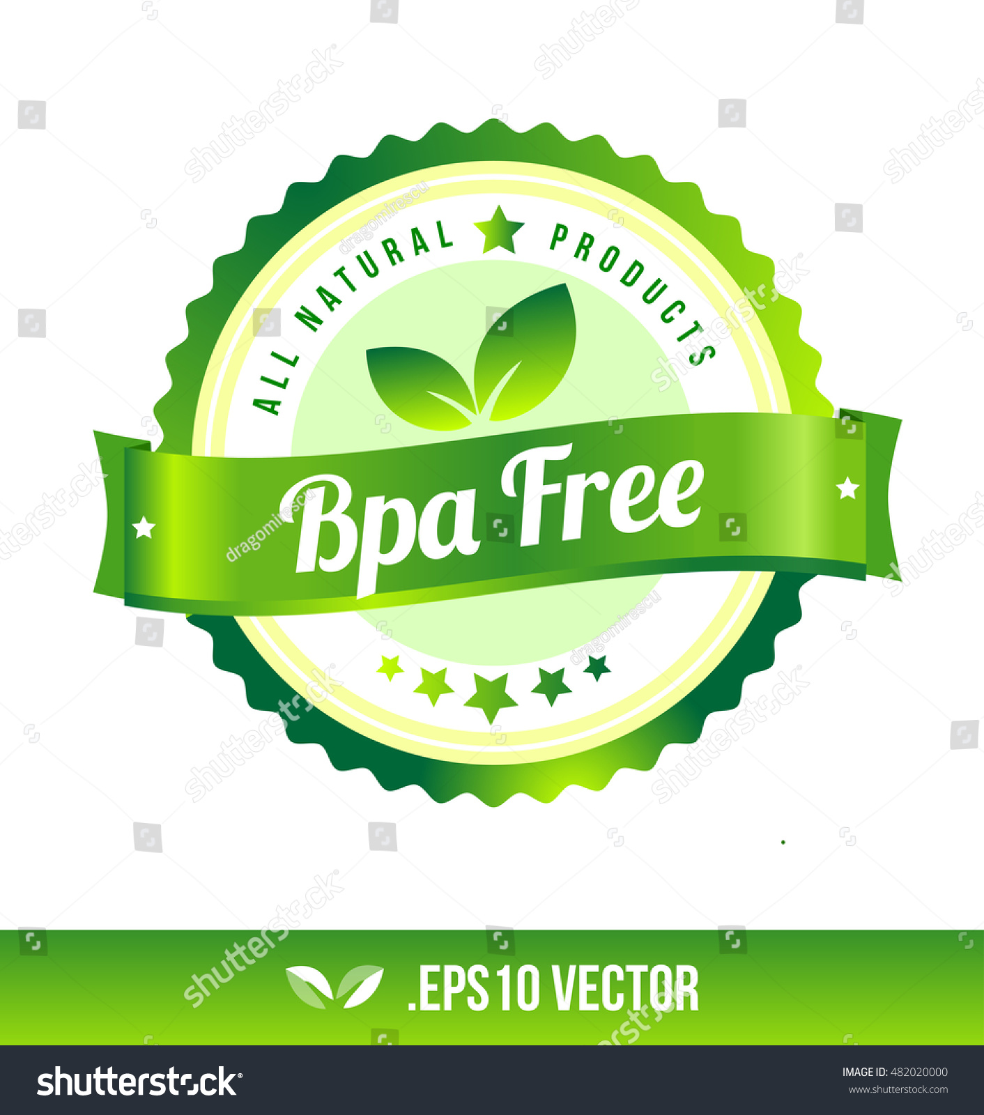 bpa free badge label seal stamp stock vector royalty free