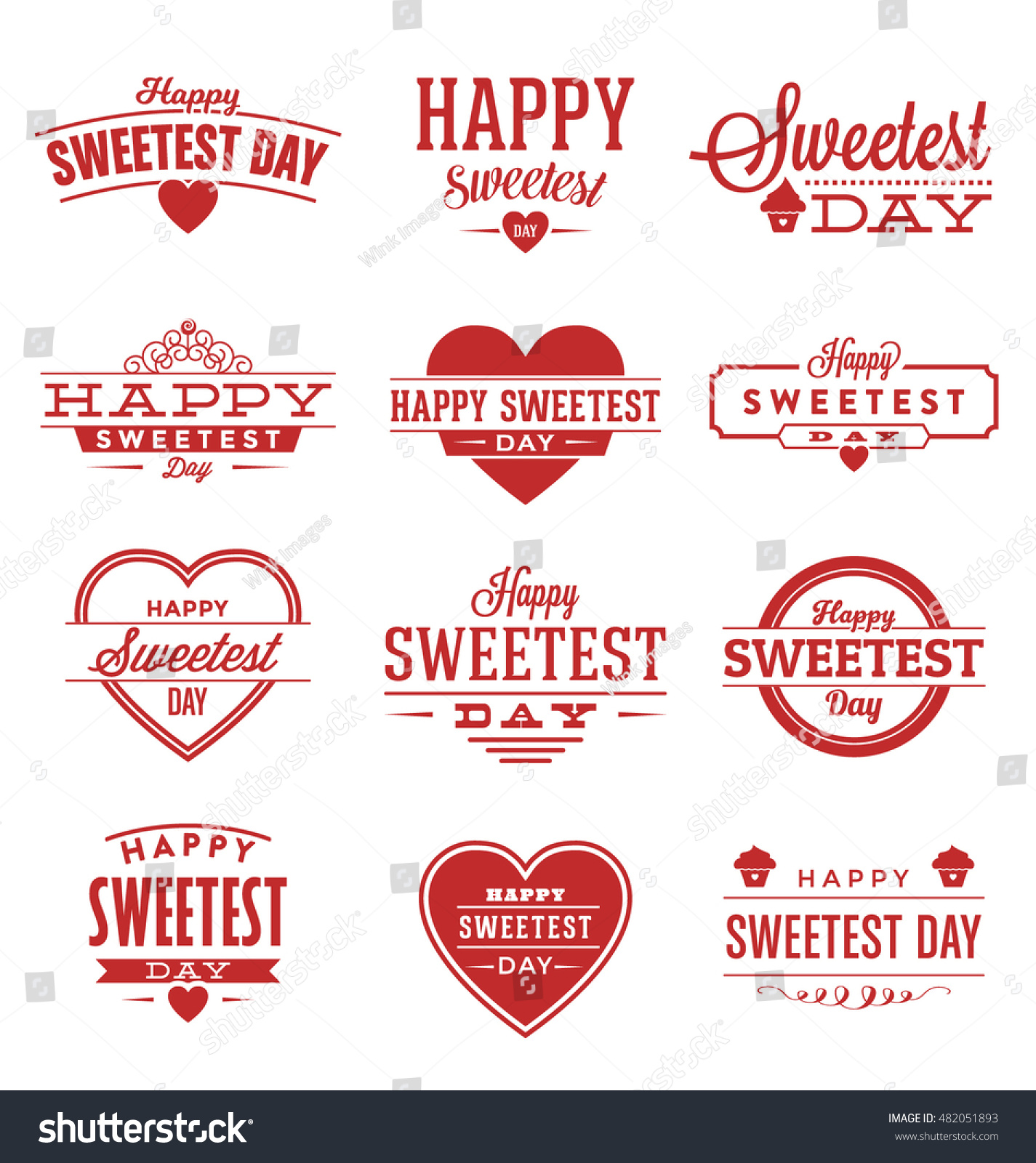 Happy Sweetest Day Typographic Vector Design Stock Vector Royalty
