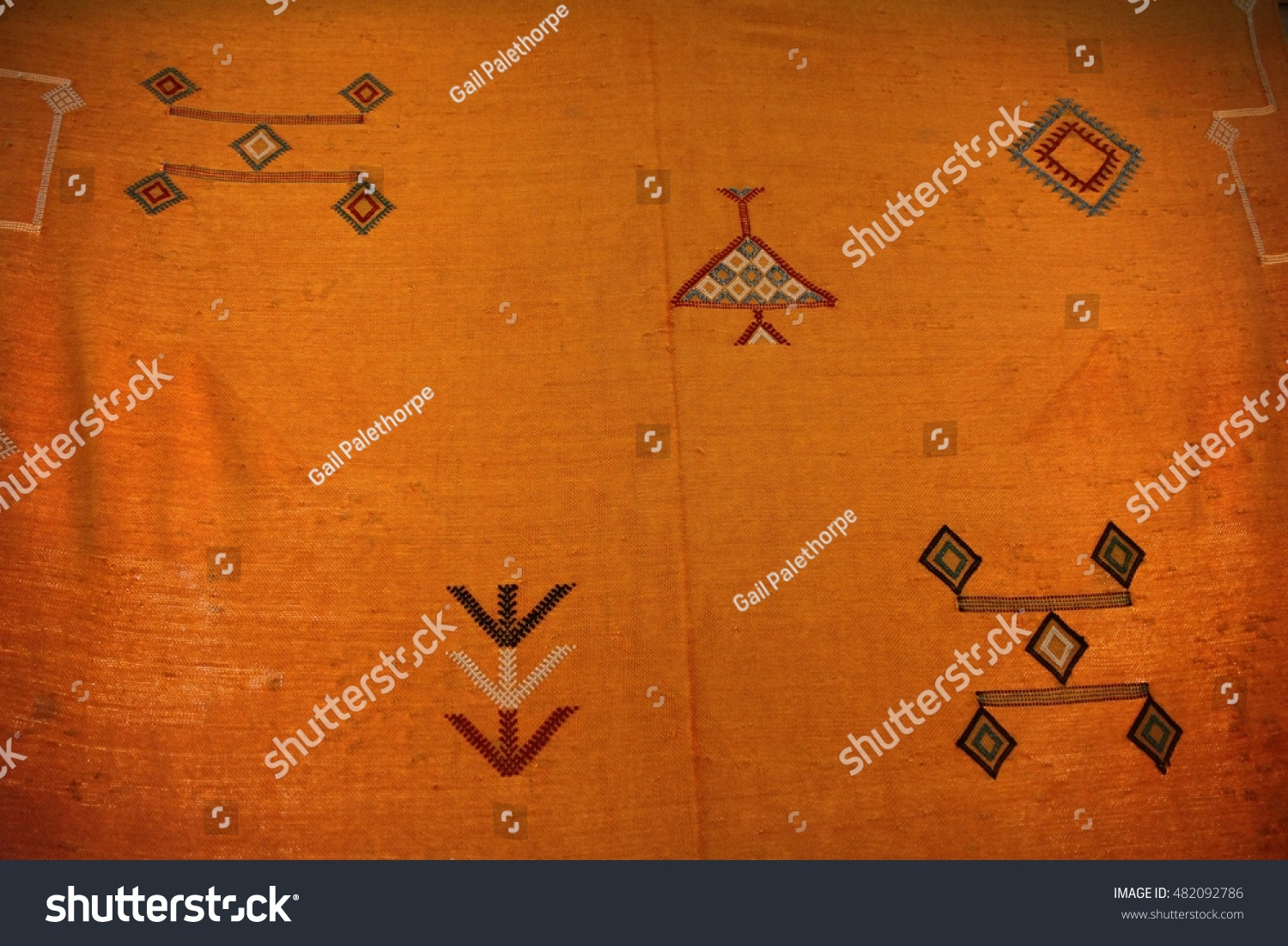 Textured Hand Woven Rug Traditional Moroccan Stock Photo Edit Now