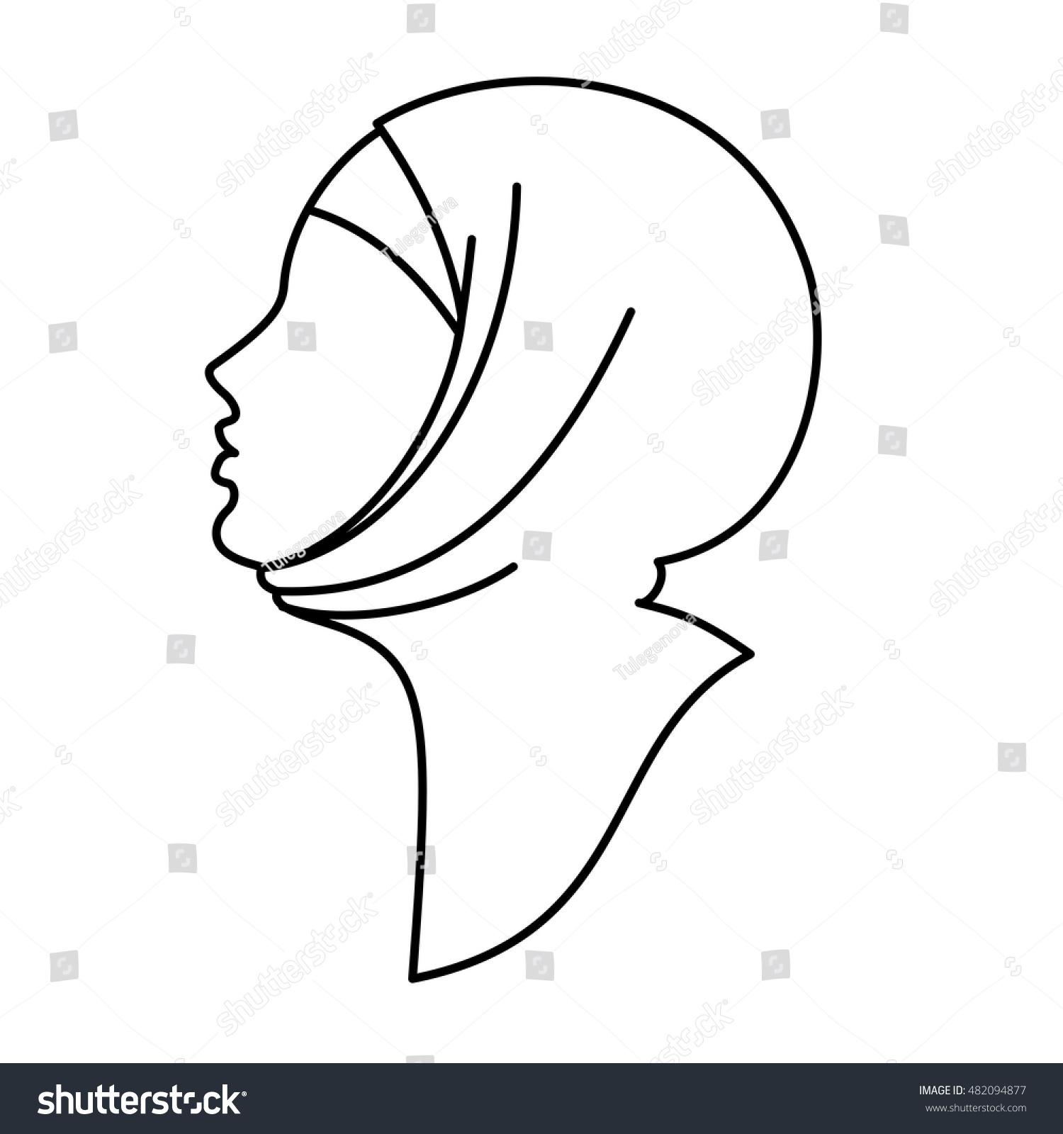 Beautiful arabic muslim woman outline stock vector 482094877 beautiful arabic muslim woman outline biocorpaavc
