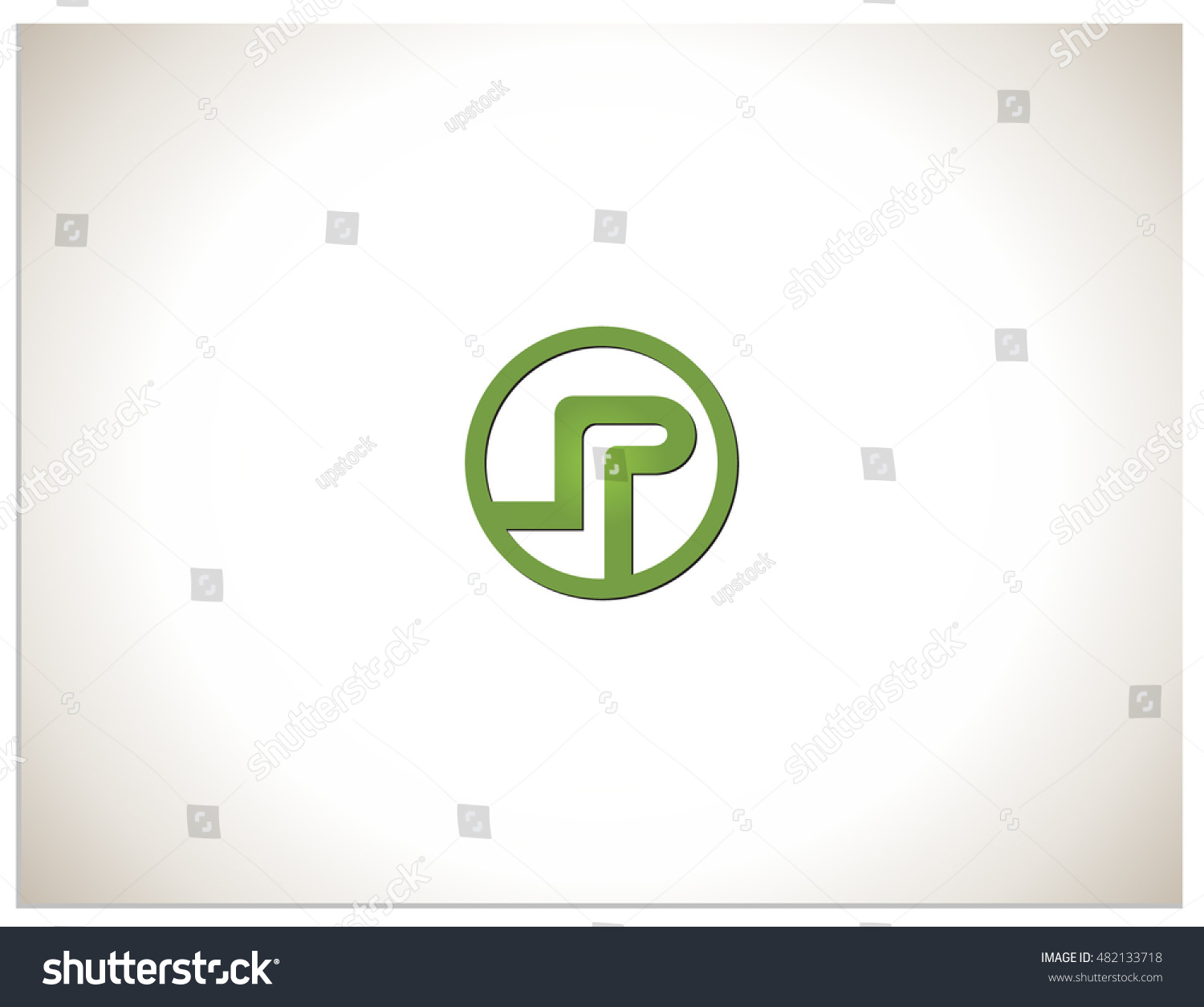 Text Logo Which Consists Connected Abbreviations Stock Vector