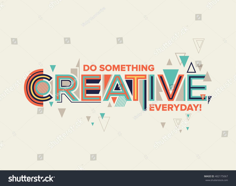 Creative modern typography design geometrical style stock for Design grafik