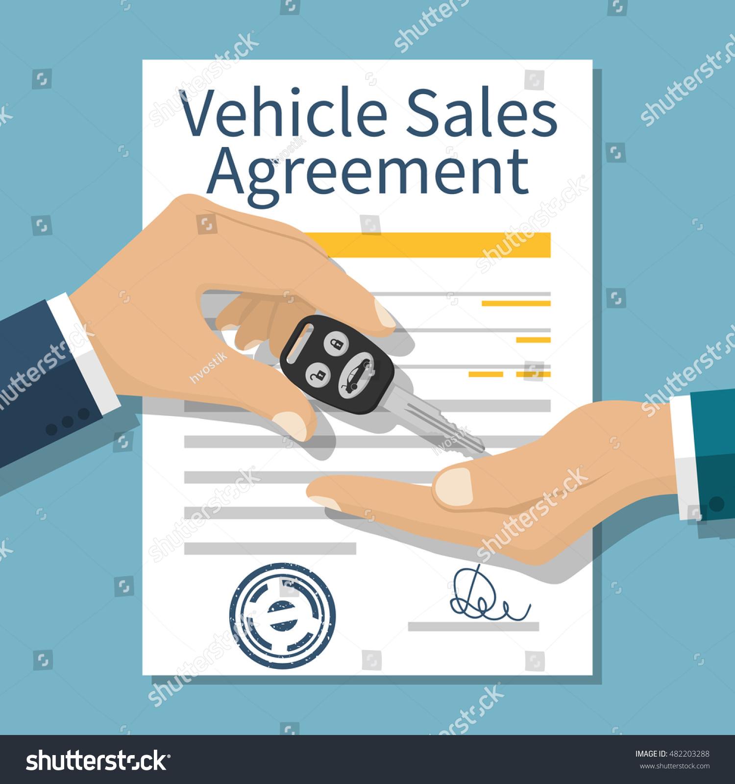 car sale hand buyer seller handing stock vector royalty free