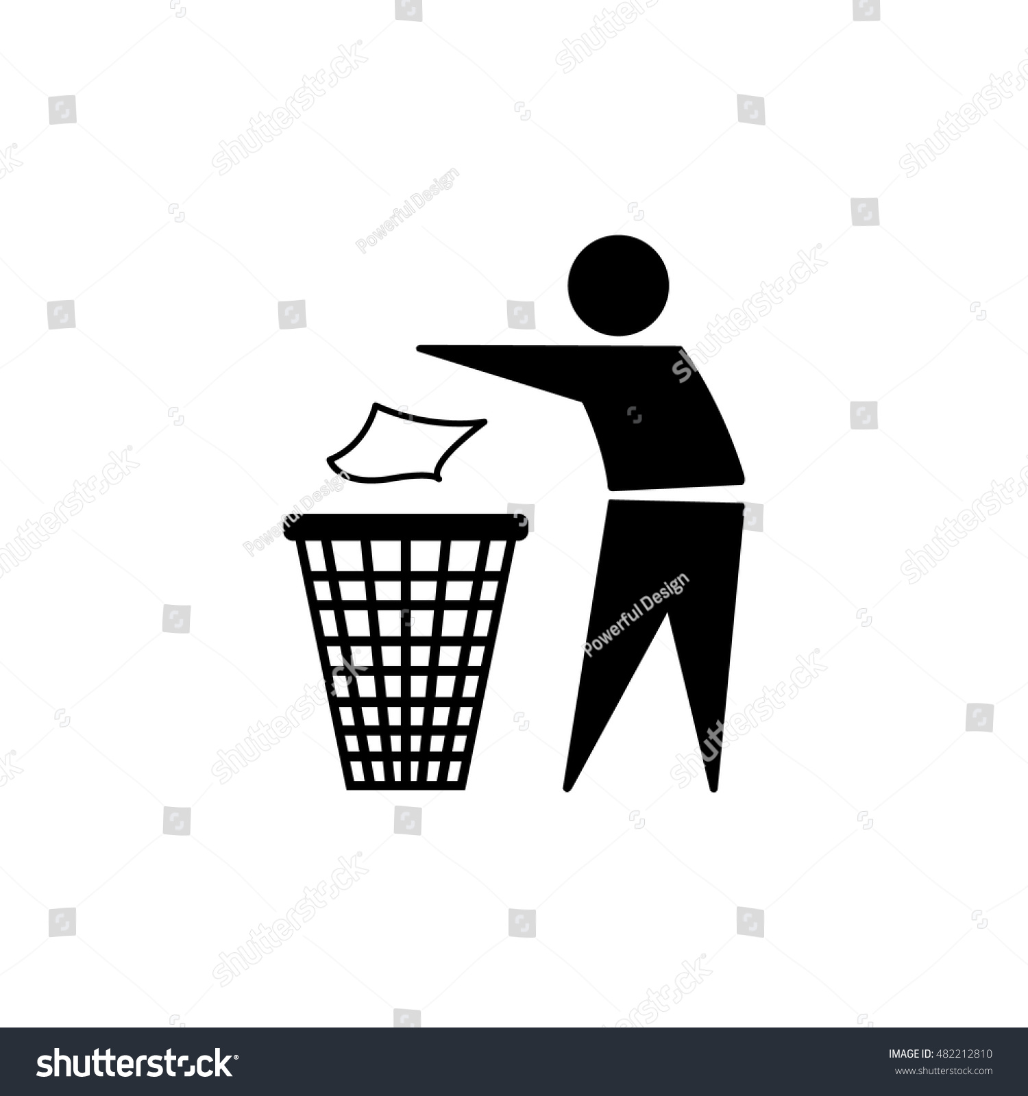 Trash Icon Do Not Litter Sign Stock Vector Royalty Free 482212810