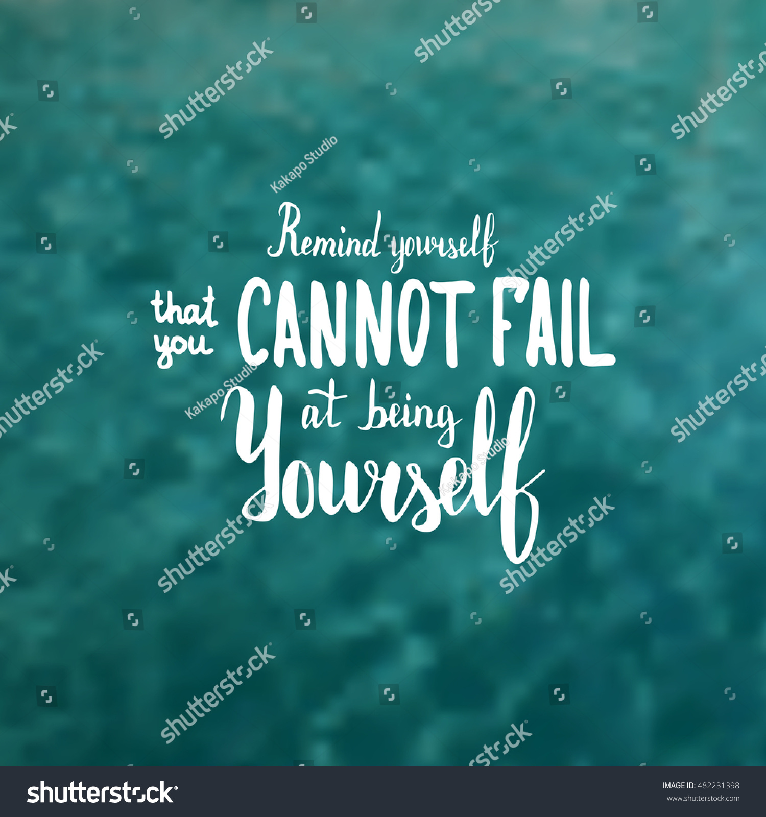 Remind Yourself That You Cannot Fail Stock Vector Royalty Free