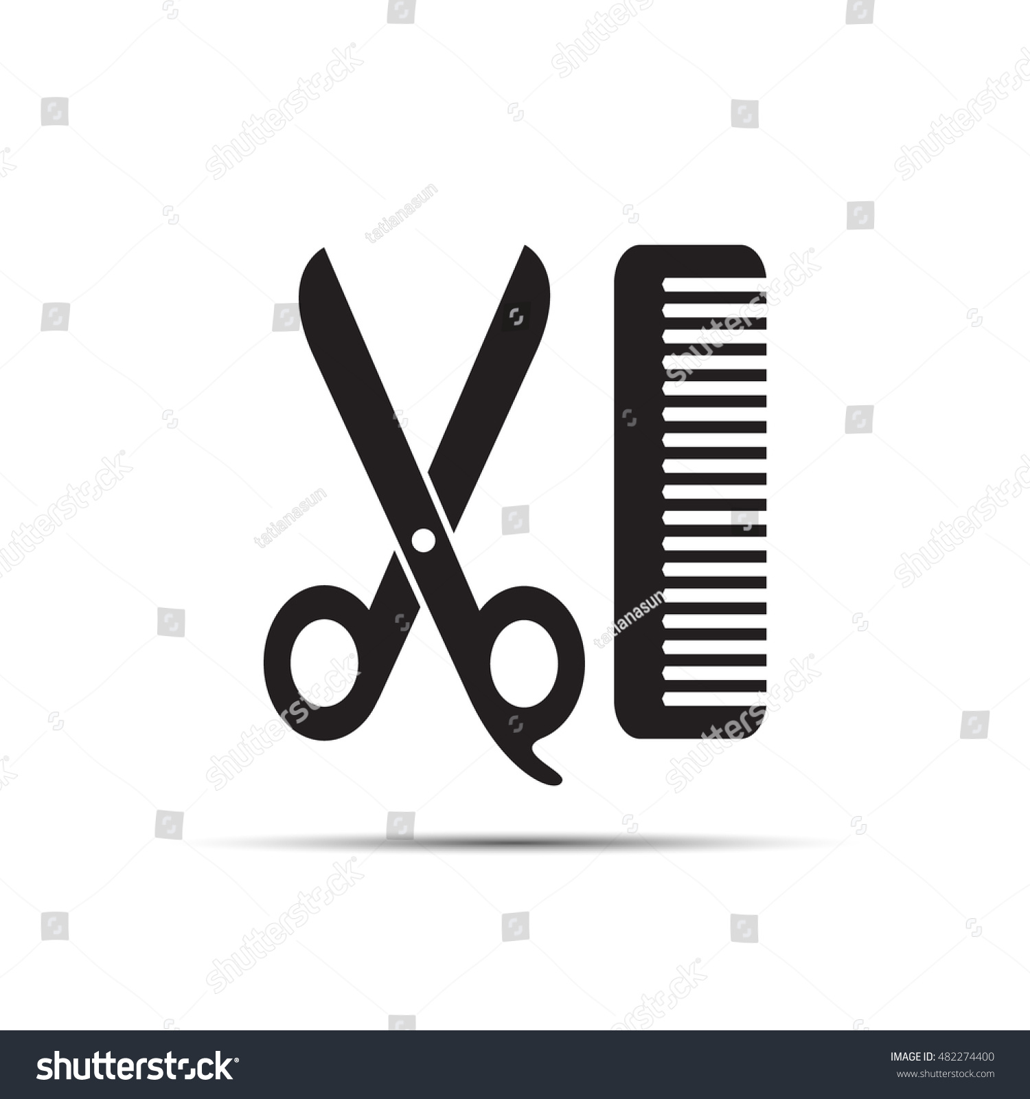 Scissors comb flat icon barbershop symbol stock vector 482274400 scissors and comb flat icon barbershop symbol haircut and hair salon symbol hairdresser biocorpaavc