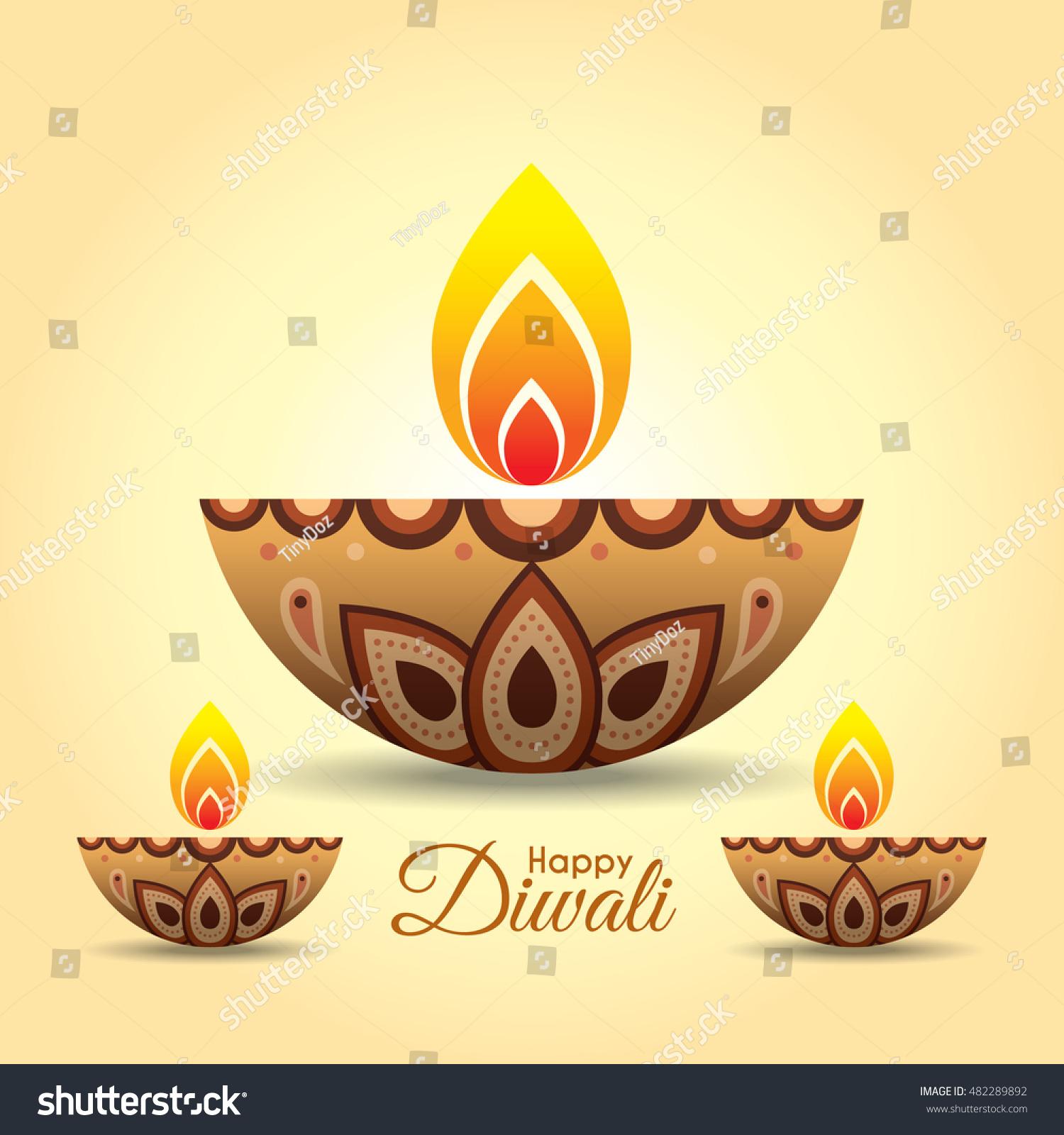 Diwali Utsav Greeting Or Poster Card Ez Canvas