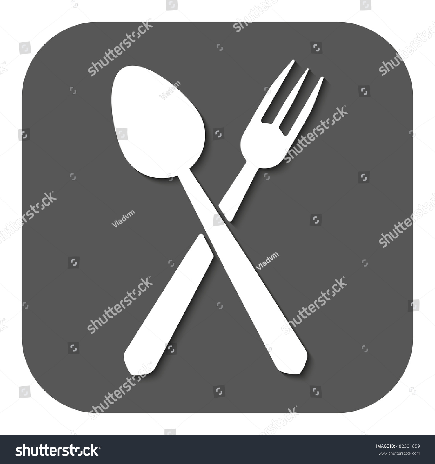 Spoon Fork Icon Spoon Fork Symbol Stock Illustration 482301859