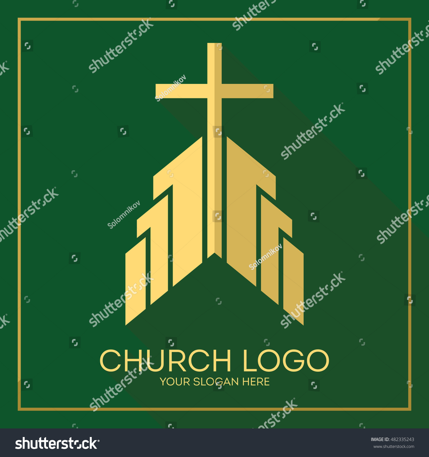 Church logo christian symbols stylish cross stock vector 482335243 church logo christian symbols stylish cross of jesus christ among graphic vector elements buycottarizona Image collections
